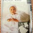 Christening Gown, Slip, Romper, Bonnet and Booties McCall's 5500 Sewing Pattern