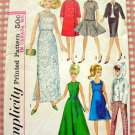 """60s 11.5""""  Fashion Doll Clothes Simplicity Sewing Pattern 6208"""
