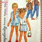 Child's Unisex Shirts, Shorts, Pants Simplicity 5984 Vintage Sewing Pattern Size 4