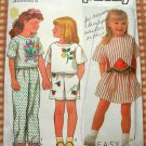 Girl's Skirt, Pants, Top and Shorts Vintage Sewing Pattern Simplicity 9730