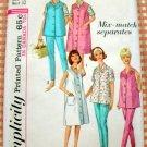 Simplicity 5412 Maternity Dress Jumper Top Blouse Pants  Vintage Sewing Pattern