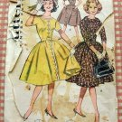 Vintage 50s or 60s Sewing Pattern Full Skirted Dress Butterick 9428