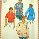 Men's Safari Shirt  Vintage Sewing Pattern Simplicity 6956