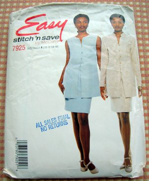 McCall's 7925 Skirt and Jacket Vintage 90s Sewing Pattern