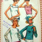 Misses Blouse 60s Vintage Sewing Pattern Simplicity 6409