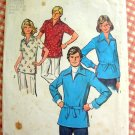 Misses Pullover Shirt Vintage 70s Pattern Simplicity 6436