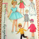 """60s 8""""  Girl  Doll Clothes Simplicity Sewing Pattern 6207"""
