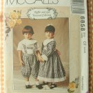 Children's Dress, Top and Knickers Sewing Pattern McCalls 6858