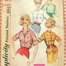 Simplicity 4056 Misses' Blouse Vintage 60's Sewing Pattern
