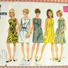Mod 1960s Dress Vintage Sewing Pattern Butterick 4668