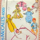 Infant Baby's Layette Clothes Vintage Sewing Pattern McCall's 4569