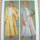 Misses Skirt and Jacket Vintage 80s Pattern Simplicity 6825