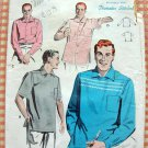 Mens Atomic Era Sport Shirt Vintage 50s Sewing Pattern Butterick 7673
