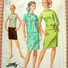 Simplicity 7164 Misses Rolled Collar Dress Vintage 60's Sewing Pattern