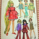 "Crissy 17 1/2""  Doll Clothes Sewing Pattern Simplicity 8519"