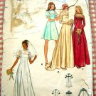Butterick 3164 Empire Wedding or Bridesmaid Gown Vintage 70s Sewing Pattern