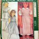 Girls' Laura Ashley Jumper, Blouse and Petticoat or Skirt Vintage 80s Sewing Pattern McCalls 8973