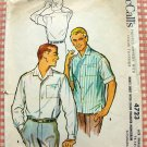 Mens 50s Shirt  Vintage Sewing Pattern McCalls 4723