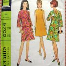 McCall's 8624  Misses Dress, Top and Skirt Vintage 60s Sewing Pattern