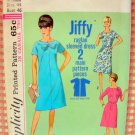 Woman's Plus Size Dress with Bow Simplicity 5985 Vintage 60's Sewing Pattern