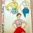Misses Blouse  Vintage 50s Pattern Simplicity 4256