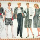 "Mix and Match Wardrobe Vintage 80s Vogue Sewing Pattern 8617  Bust 36"" - 40"""