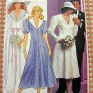 Vintage 80s Pattern Misses Wedding Dress Butterick 4872