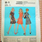 60s A-Line Pleated Dress Vintage Sewing Pattern McCalls B 1