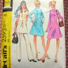 Misses' Dress or Top and Pants 70s Vintage Sewing Pattern McCalls 2593