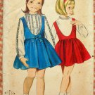 Girl's Jumper & Blouse Butterick 3347 Vintage 60s Sewing Pattern