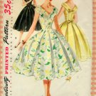 Party Dress 50s Vintage Sewing Pattern Simplicity 1119