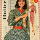 Vintage 50s or 60s Sewing Pattern Full or Slim Skirted Dress Butterick 9941