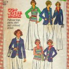 Misses' Pants, Skirt, Pullover Top and Unlined Jacket Vintage Sewing Pattern Simplicity 7930