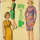 Misses' 60s Sheath Dress Vintage Sewing Pattern Simplicity 6437