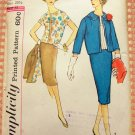 Plus Size 50s Three-Piece Suit Vintage Sewing Pattern Simplicity 2853