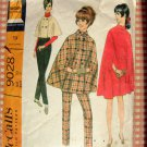 Cape and Skinny Pants McCalls 9028 60s Vintage Sewing Pattern