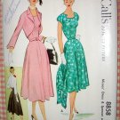 Misses' 50s Dress and Bolero Jacket Vintage Sewing Pattern McCall's 8858