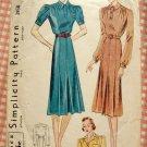 Misses 1930s Spectator Dress Vintage Sewing Pattern Simplicity 2858