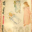 Toddler's Nightgown Vintage 40s Sewing Pattern Simplicity 1956