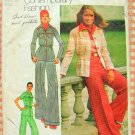 Misses Shirt Jacket and Cuffed Bell Bottom Pants 1970s Vintage Sewing Pattern Simplicity 5750