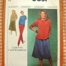 Misses Stretch Knit Skirts, Tops and Pants 70s Vintage Sewing Pattern Simplicity 8651