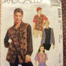 Plus Size Misses Shirt 90s Vintage Sewing Pattern McCalls 8464