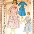 Misses' 60s Housecoat or Robe Vintage Sewing Pattern Simplicity 3712
