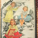 Girls'  Maxi Prairie Dress Vintage Sewing Pattern Simplicity 9939