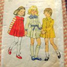Girl's Pleated Dress Size 5 Simplicity 6584 Vintage Sewing Pattern