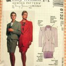 McCall's 6132 Plus Size Business Suit Skirt and Jacket Vintage 90s Sewing Pattern