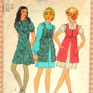 Simplicity 9800 Misses Mini Dress and Smock 70s Vintage Sewing Pattern