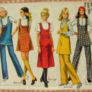 Simplicity 8904 Misses Jumper, Tunic and Pants 70s Vintage Sewing Pattern