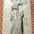 Misses Sundress, Skirt Jacket Vintage 40s Mail Order Pattern Marian Martin 9078