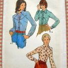 Butterick 3840 Plus Size Shirts Vintage 70s Sewing Pattern